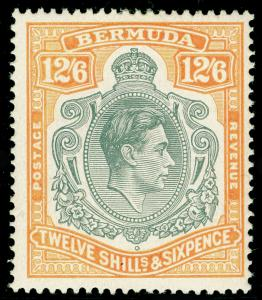 BERMUDA SG120b, 12s 6d Grey & Pale Orange, LH MINT. Cat £110.