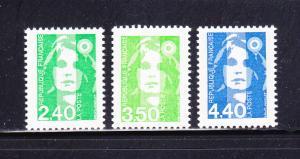 France 2334, 2336, 2338 MNH Marianne