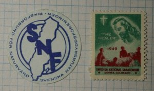 SNF Swedish Native Preservation WW Charity Seal Poster Stamp