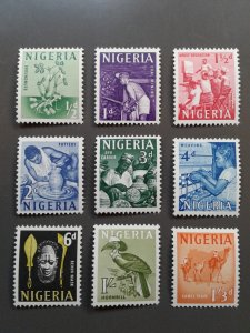 Nigeria 101-109 F-VF mint hinged. Scott $ 9.20