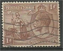 TRINIDAD AND TOBAGO, 1922, used 1p, George V  Scott 22