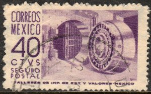 MEXICO G11, 40cents 1950 Definitive 1st Printing wmk 279 USED. F-VF. (773)