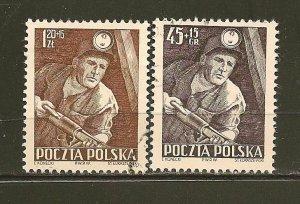 Poland B95-B96 Miner Semi-Postal Used