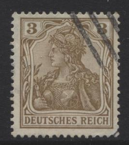 GERMANY. -Scott 66- Definitives -1902 - Used - Brown - Single 3pf Stamp2