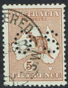 AUSTRALIA 1914 KANGAROO OS 5D USED