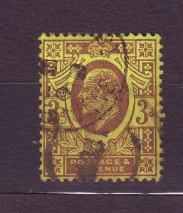 J23515 JLstamps 1902-11 great britain used #132 king