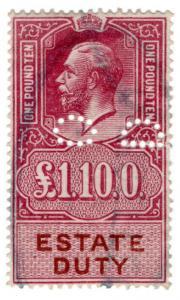 (I.B) George V Revenue : Estate Duty £1 10/-