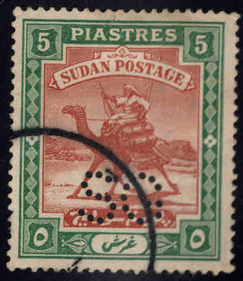 SUDAN should be Scott oA20 Used Perfin  official stamp