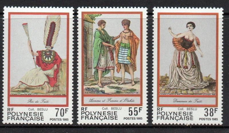 French Polynesia 1985 Costumes VF MNH (419-21)