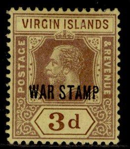 BRITISH VIRGIN ISLANDS GV SG79, 3d purple/yellow, M MINT.