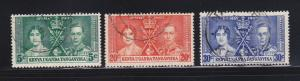 Kenya, Uganda, Tanzaniaya 60-62 Set U King George VI Coronation (C)