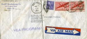 United States Transport Issue 6c Transport (2) and 3c Jefferson Prexie 1949 D...