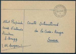 Switzerland WWII Internment Camp Rinikin Cover 54131