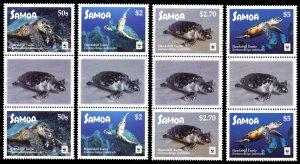 Samoa 2016 Scott #1270-1273 Gutter Pairs Mint Never Hinged