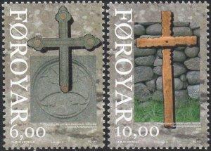 Faroe Islands 2008 #506-7 MNH. Religion, crosses