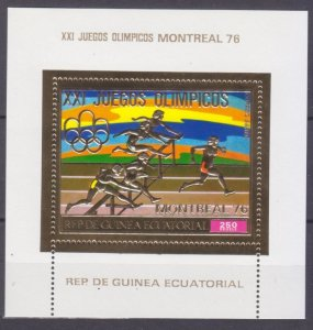 1976 Equatorial Guinea 873/B225gold 1976 Olympic Games in Montreal 8,50 €