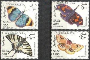 {V} Somalia 1993 Butterflies set of 4 MNH **