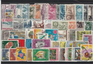 vintage colombia stamps ref r9773
