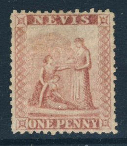 NEVIS Queen Victoria 1862 One Penny Dull Lake SG 1 MNG