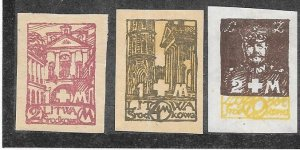 Central Lithuania  #25,26,28 imperf  (MH) CV $3.05