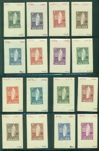 ICELAND #204, 208PR, Magnificent GEYSIR COLOR PROOF set of 30, rare offering