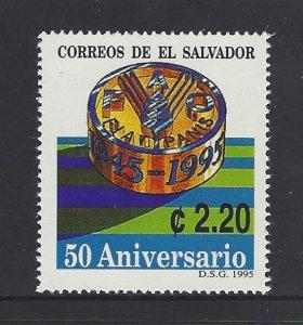 EL SALVADOR FAO 50th ANNIVERSARY Sc 1403 MNH 1995