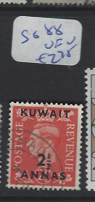 KUWAIT  (P2409B)  KGVI ON GB  2 1/2A SURCH SG 88   VFU