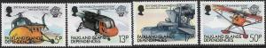 FALKLAND ISLANDS, 1L80-1L83, MNH, MANNED FLIGHT WESTLAND