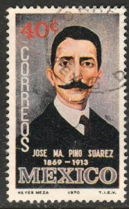 MEXICO 1028, Jose Ma. Pino Suarez Birth Centennial. Used. VF. (414)