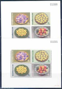 THAILAND SC#1360a SOUVENIR SHEETS  PERFORATED & IMPERFORATED MINT NH
