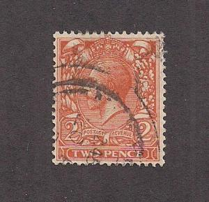 GREAT BRITAIN SC# 162 F-VF U 1912