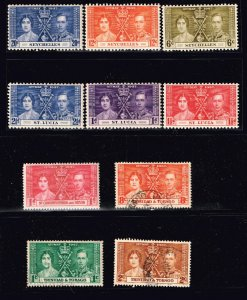 UK STAMP 1937 Coronation ISSUE mint and used stamps lot