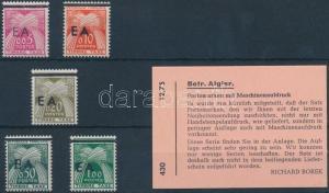 Algeria stamp Portó Postage due MNH 1962 Mi 54-58 WS189747