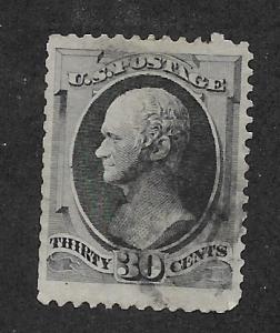 154 Used,  30c. Lg Banknote,  scv: $275