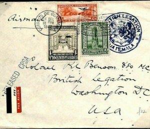 GUATEMALA WW2 Cover Diplomatic *BRITISH LEGATION* USA Washington 1942 F182