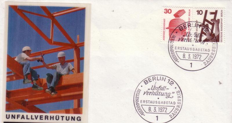 Berlin FDC Sc# 9N317 & 9N320 Safety Series  L8