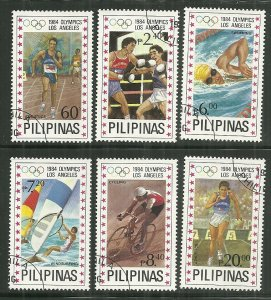 1984 Philippines #1699-1704 complete Olympics set of 6 CTO NH