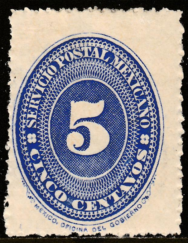 MEXICO 216, 5cts LARGE NUMERAL WATERMARKED, Unused H OG. F-VF.. (114)