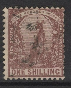 NEW SOUTH WALES SG258a 1889 1/= MAROON p12x11½ USED