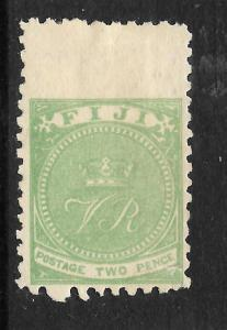 FIJI  1878-99  2d  YELLOW GREEN   MLH  P10  SG 40