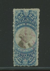 R112c Washington Revenue Stamp with Sewing Machine Perforations  (Stock R112-1)
