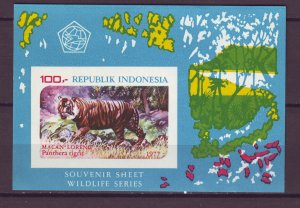 J25115 JLstamps 1977 indonesia s/s mnh #1016a wild animal tiger