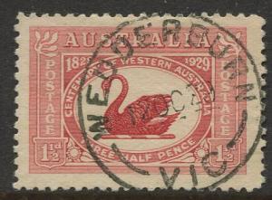 Australia #103 Black Swan 1929 VFU CV$