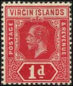 Virgin Islands SC# 39 SG# 70 George V 1d MH