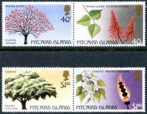 PITCAIRN IS. Sc#289-290 1987 Trees Setenant Pairs Complete Set Mint OG NH