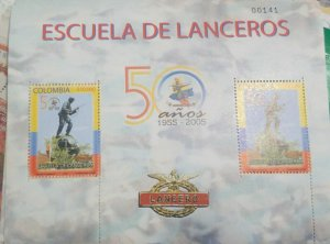 A) 2005, COLOMBIA, L ANNIVERSARY OF THE ELITE CORPS OF THE ARMY OF THE LANCERS,