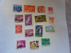 israel stamps  mixed con 15 stamps ( 14 )