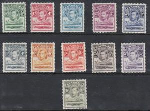 BASUTOLAND  1938  S G 18 - 28  SET OF 11  MH  CAT £110