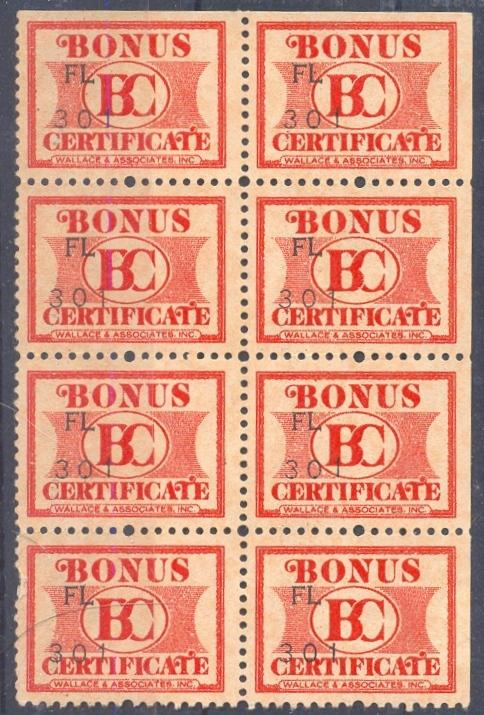 Wallace & Associates, Inc.  Cinderella block of 8
