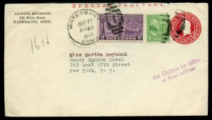 U.S. Scott 807, 804 (2) Prexies plus C39 and E16 on Air Special Delivery Cover